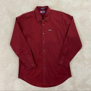 Chaps Ralph Lauren Mens Button Front Shirt Sz M
